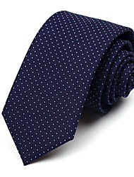 7 CM Wide Dark Blue Silk Tie