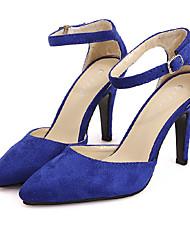 tacones laterales vacío moda Xueling (Azules)