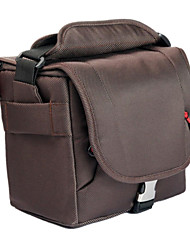Nylon DSLR Kamera-Tasche Schultertasche für Canon Nikon (Storage 1 Body mit 1-2 Objektiv + Blitz, 18-55 18-135 18-105 Objektiv)