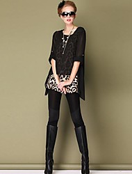 Women's European And American Big Yards Temperament Sexy Leopard Chiffon Tops
