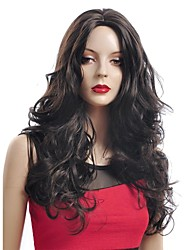 Long High Quality Synthetic Dark Brown Curly Hair Wig