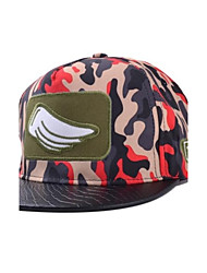Unisex  Camouflage Wing Korean Stereo Embroidery Flat Brimmed Hat