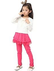 Girl's Cotton Blend/Polyester Skirt/Leggings , Fall