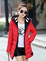 Women's New Fashion Bodycon Double Hooded Thicken Short Down Jacket