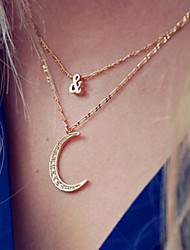 Shixin® Vintage Moon & Shape Europe Pendant Necklace(1 Pc)
