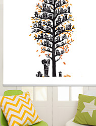 Artistic Abstract Houses Tree Roller Shade