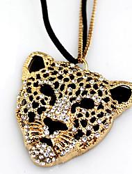 perderse u estilo reina collar modelo del leopardo del diamante de las mujeres