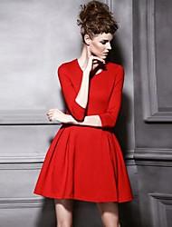 Women's New Fashion Elegant Collect  Waist  A-line  Dress