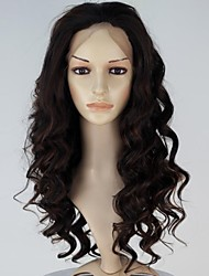 Hand Tied Women Lace Front Fashion Long Curly Brown Color Synthetic Hair Wig