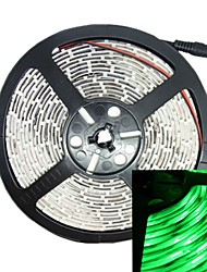 75w 5m 300led 5050smd 490-560nm dc12v ip68 impermeable de la tira de color verde claro