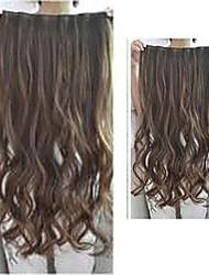 Kunsthaar Clip in Haarverlängerung heißer Verkauf drei Farbwelle 20 Zoll