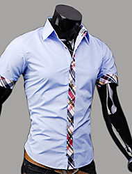 camicia a quadri di stampa moda uomo manmax di