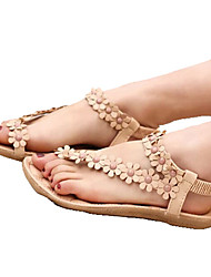 Zikafo New 2014 Summer Korean Style Womens Bohemia Beads And Flower Shaped Flat Heel Sandals Flip Flops