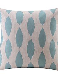 Blue Teardrop Cotton/Linen Decorative Pillow Cover