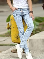 Men's 2014 New Fashion Low-Rise Zipper Fly Skinny Indigo Long Pencil Jeans