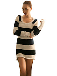 JoanneKitten Sexy Stripes Knitted Dress Sweater