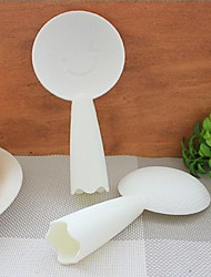 Plastic Lovely Smile Can Stand  Stick Rice Scoop,18x9x9cm