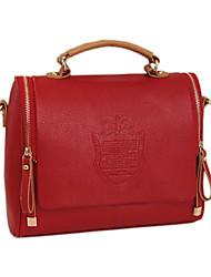 le sac fourre-tout solide de couleur des femmes mandy (rouge)
