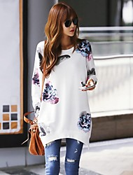 Women's Round Collar Casual Loosen Cape Long Sleeve Hoodie&Shirt