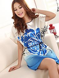 Women Acrylic/Lace/Rayon Thin Pajama
