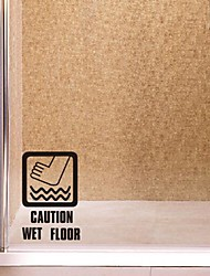 Wall Stickers Wall Decals,  Modern Wet floor Caution! Logo PVC Wall Stickers