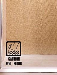 decalques de parede adesivos de parede, moderno cautela piso molhado! Logo Recados pvc adesivos