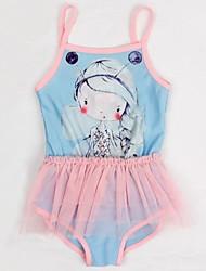 Girl's Polyester Swimwear , Summer