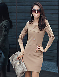 Fashiobn Long Sleeve Bodycon Dress