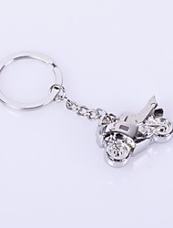 The Motorcycler Shape Metal Silver Keychain Toys