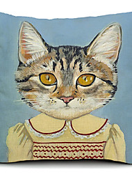 Miss coton chat / linge taie d'oreiller décoratif