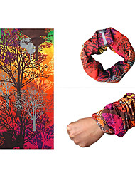 Bandana Bike Cycling,INBIKE Colourful Dreamland Forest Outdoor Cycling Polyester Kerchief Hood Headband