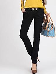 Women's Black Straight/Harem Pants , Casual/Plus Sizes