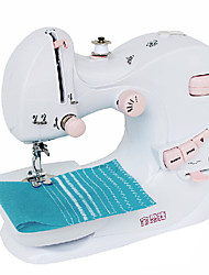 Household Mini Type Pink Buttons Sewing Machine