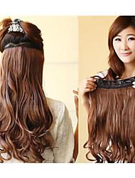 Venta caliente colorida del clip mayorista en la extensión del pelo de la muchacha 20inch