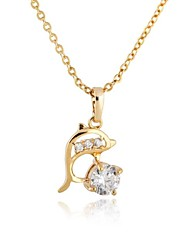 Women's  Fashion Dolphin Design 18K Gold Plated Necklace