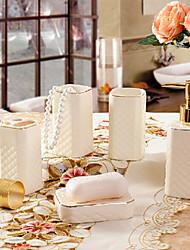 5 Piece Bath Collection Set Ceramic Material,Bath Ensemble,Bath Accessory Set