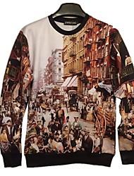 Kapuzenjacken & Sweatshirts ( Baumwolle ) Langarm - Bedruckt - Langarm - Herren