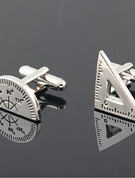 Groom/Groomsman Protractor And Triangular Rule Brass Cufflinks