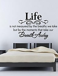 JiuBai™ Life Quote Home Decoration Wall Sticker Wall Decal