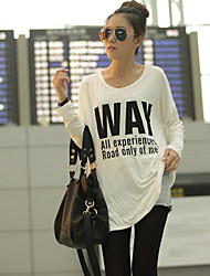 Women's T-Shirts , Chiffon/Cotton/Knitwear/Mesh/Others/Polyester/Wool Beach Yiten
