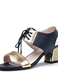 zapatos de las mujeres del dedo del pie abierto gruesos zapatos de las sandalias de tacón más colores disponibles