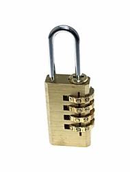 Convenient Copper Luggage Anti-theft 4-number Combination Pad Lock