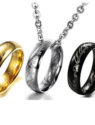 Magic Exquisite Verses Titanium Steel Men the Ring Necklace Jewelry