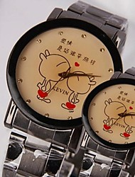 Women's Fashion Personality Kissing Steel Band Couples Watch Cool Watches Unique Watches