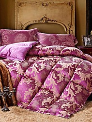 Shuian® Comforter Winter Quilt Keep Warm Thickening Plume Velvet Quilts with Jacquard Fabric and Flower Pattern