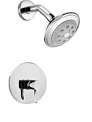 Shower Faucet Contemporary Rain Shower Chrome