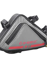 inbike 600d rouge cadre de vélo portable sac top tube sac de triangle