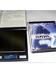 draagbare digitale elektronische weegschaal keukenweegschaal 500g / 0.1g, plastic 8.5x7.5x1.2cm