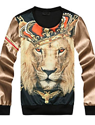 Men's Fashion Print Red Lion 3D Sweatshirt