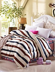 Shuian® Comforter Winter Quilt Keep Warm Thickening  Quilts with Printing Fringe Pattern